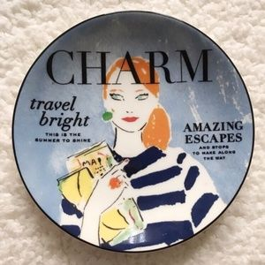Kate Spade Lenox Make Headlines Charm Travel Plate